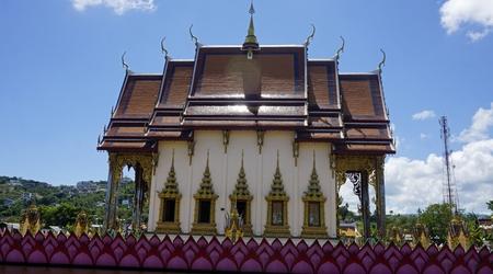 chinese plai laem temple on koh samui in thailand Standard-Bild - 120714647