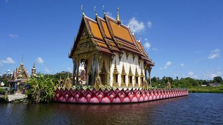 chinese plai laem temple on koh samui in thailand Standard-Bild - 120714722