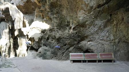buddha cave khao lunag in phetchaburi thailand