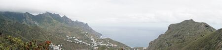 exotic landscape in anaga mountains on tenerife island