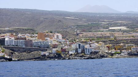rocks around los gigantes villages on tenerife Imagens