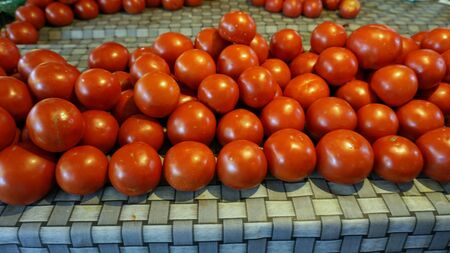 fresh red tomatoes from the market of skopje