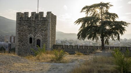 historical fortress of skopje in macedonia in autumn