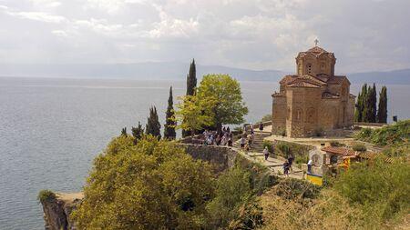 Ohrid, Macedonia, circa September 2019: Sv. Jovan Kaneo Church
