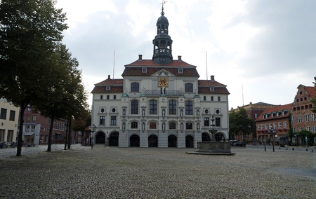 lueneburg, germany, circa october 2019: old town hall building Redactioneel