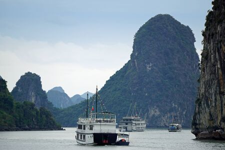 islands of the halong bay in vietnam