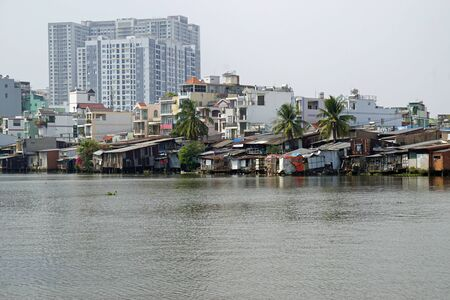 local live in the suburb of ho chi minh city in vietnam