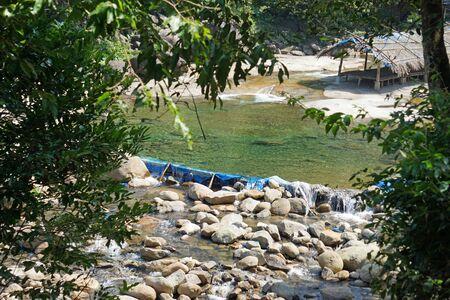 beautiful bo ghe waterfall in bach ma national park