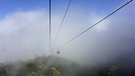cable car in bana hills in vietnam