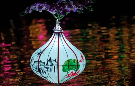 lightnings laterns at fullmoon festival in hoi an Stockfoto