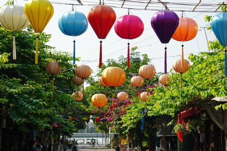 colorful lantern in hoi an in vietnam