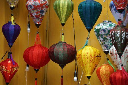 colorful lantern in hoi an in vietnam Stockfoto