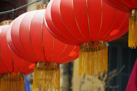 traditional chinese temple in hoi an Standard-Bild
