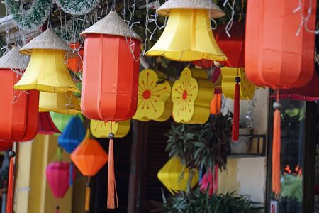 colorful and traditional architecture in hoi an