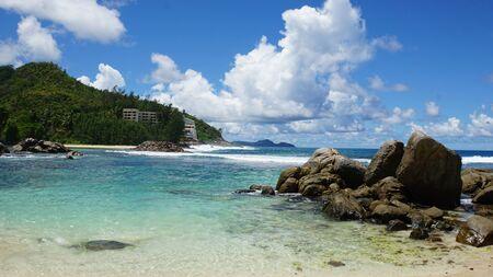magnifique paysage tropical sur les îles seychelles Banque d'images