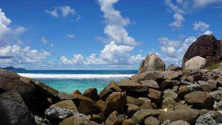amazing tropical landscape on the seychelles islands