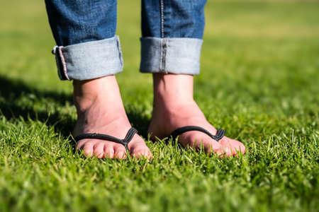 Flip Flops on a meadow
