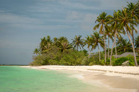 A beach at the maldives in 2018.
