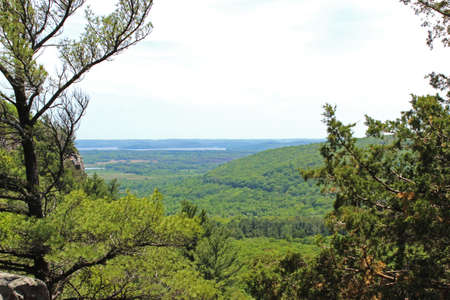 overlook: Cool lookout with a natural picture frame of trees