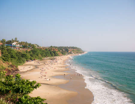 12282017. Verkala, India. Kerala Beach is one of the most popular and touristic destinations of Kerala. It is attended by locals and tourists from all over the world. Editorial