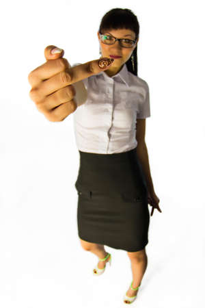woman handle success: Angry Business lady