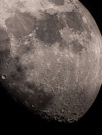 astrophoto: Astrophoto of moon in the night sky