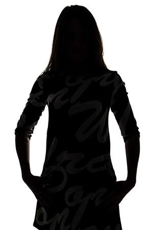 Silhouette of a woman - isolated photo of a woman