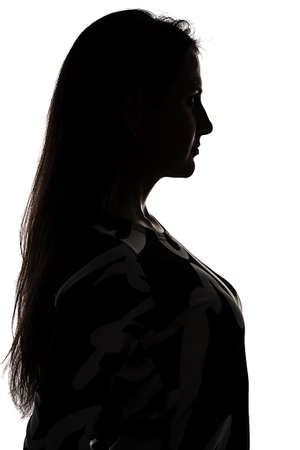 dramatic: Silhouette of a woman - isolated photo of a woman