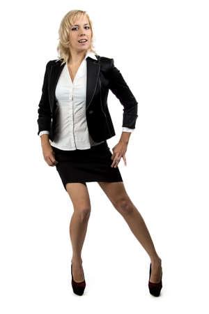 Portrait of businesswoman in suit  photo