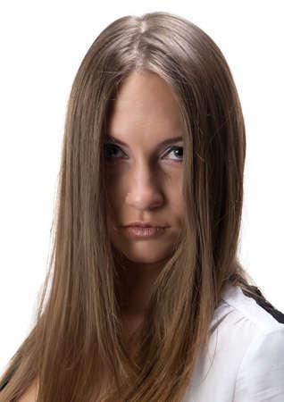 loose hair: Ritratto di donna di Yong con i capelli sciolti