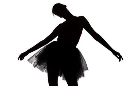 Image of dancing teenage girl on white background photo
