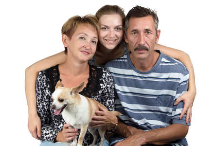 deference: Photo of the stable family on white background