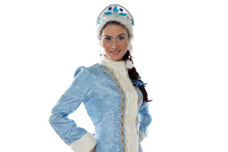 snow maiden: Image of snow maiden on white background