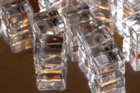 fake: Photo of fake ice and its reflection