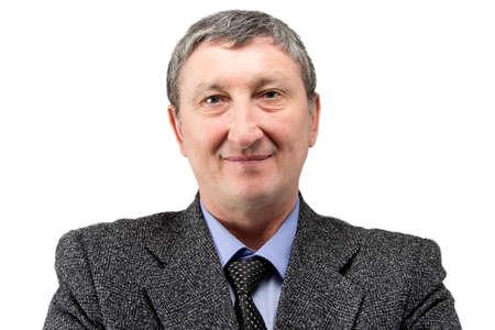 shoulders: Foto de un hombre de negocios de alto en el fondo blanco