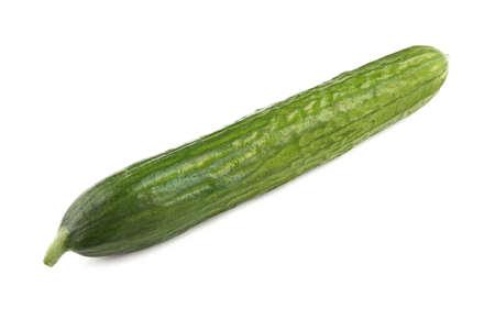 ripen: Image of ripen cucumber on white background