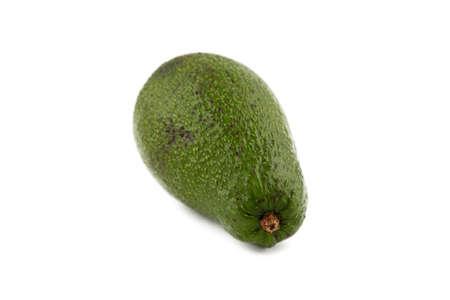 ripen: Image of green ripen avocado on white background Stock Photo