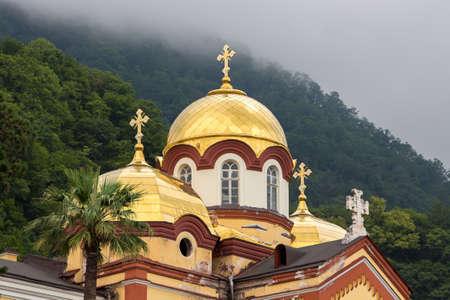 abkhazia: Photo of the dome of the new Athos monastery, Abkhazia