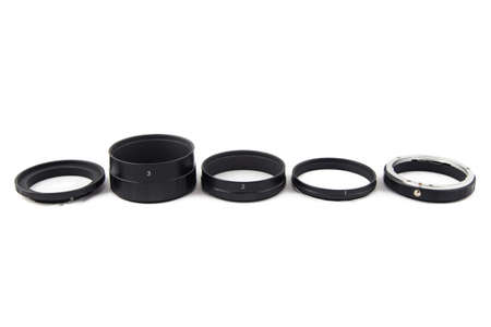 sorted: Photo of sorted macro rings on white background