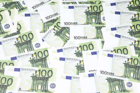 order chaos: Background of one hundreds euro. Photo of background.