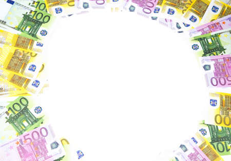 hundreds: Background of hundreds euro. Isolated photo of an object.
