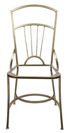 footing: Base of iron chair on white background Stock Photo