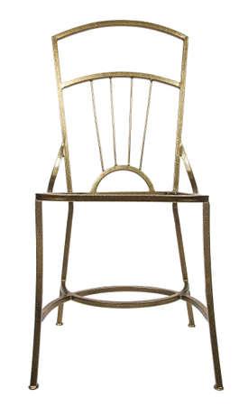 white work: Work piece of iron chair on white background