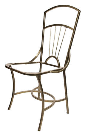 footing: Frame of iron chair on white background Stock Photo