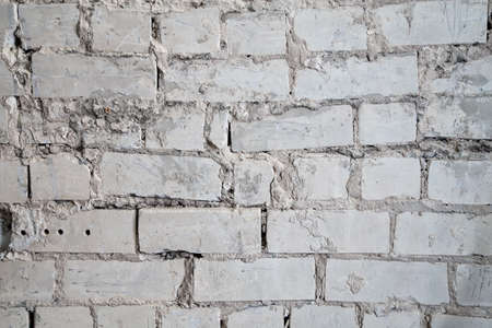 overhaul: Structure of a brick wall during overhaul Stock Photo