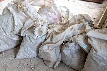 overhaul: Heap of dirty cellophane sackful during overhaul