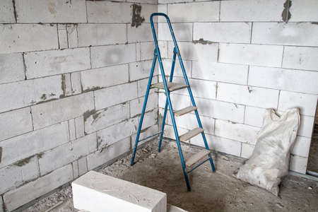 stepladder: Stepladder in the corner during capital repair
