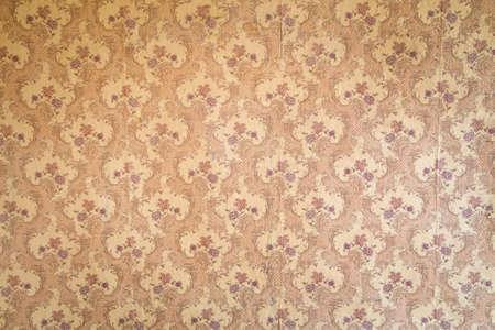 overhaul: Vintage wallpaper in the room during overhaul Stock Photo