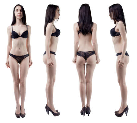 turning: Turning around slim woman