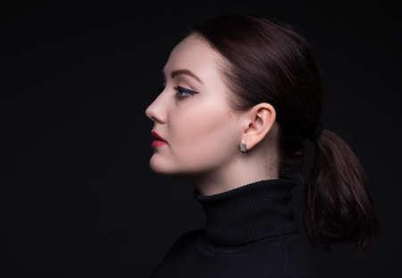 woman profile: Portrait of woman in profile